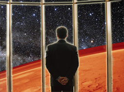 Man Overlooking Mars